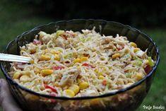 Sałatka z zupek chińskich - PRZEPIS Polish Recipes, Side Salad, Tortellini, Kraut, Pasta Salad, Macaroni And Cheese, Food And Drink, Healthy Eating, Rice