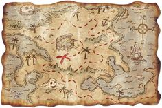 "Pirate Treasure Map, 12"""" x 18"""" | 1 ct"