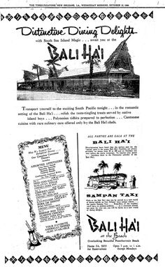 Bali Ha'i lives on in the memories of New Orleanians