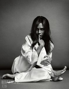 Victoria Beckham officially lets her hair down in extremely kooky Vogue shoot | Daily Mail Online