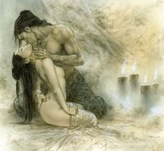 Luis Royo: Dead Moon//// copy of this painting is ready for sale www.haroonartist.weebly.com 00923213820897
