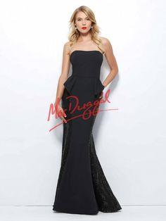 Black Peplum Dress | Mac Duggal 85364R
