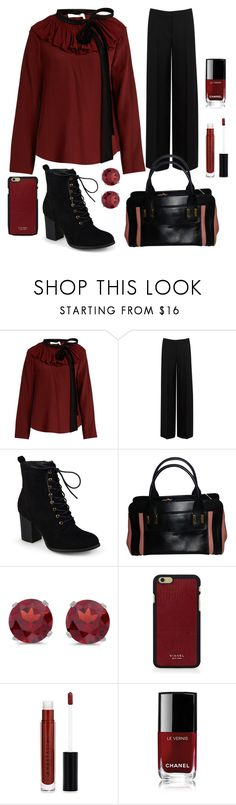 """""""Fall @ the office"""" by paulaj87 ❤ liked on Polyvore featuring Chloé, Alexander McQueen, Journee Collection, BillyTheTree, Vianel, Anastasia Beverly Hills and Chanel"""