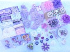 The listing is for one of Purple Mermaid Song Collection Box. What do you see in the pictures is what you will get, except the little plate to hold the beads.  I created this kit to all of you who is always dreaming to be a mermaid. Imagine the beautiful purple fish in the ocean, the lovely white sandy beach, the warm of the sunshine touch your skin, and the fresh ocean breezy. The sounds of the wave like the melody of the mermaid song that calming the restless soul.  The kit is combination…
