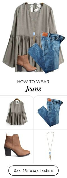 """what college are you thinking about going to?"" by ponyboysgirlfriend on Polyvore featuring AG Adriano Goldschmied, Armenta and Kendra Scott"
