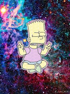 Image via We Heart It https://weheartit.com/entry/162801735 #bart #beautifull… Hipster Wallpaper, Wallpaper S, Simpsons Characters, Galaxy Background, Acid Art, Character Wallpaper, Los Simpsons, Supreme Wallpaper, Hippie Art