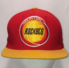 6f337687ce8 Houston Rockets Basketball Hat Mitchell and Ness Ball Caps NBA Hardwood  Classics Wool Blend Flat Bill Snapback Hats For Men Gifts T61 F8239