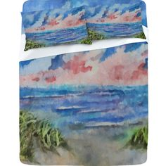 Designed from a watercolor batik painting by Rosie Brown