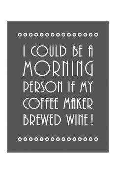Mornings & Wine.