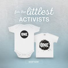 ADORABLE <3 Get some ONE swag for the little activists in your life at the ONE store! #Shop