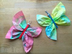 "Butterfly Crafts are a wonderful craft for this time of year – they are wonderful for waiting for Spring to arrive and they are fun to make right through the Summer. We finally had a go at some classic ""Coffee Filter Butterflies"" – great fun exploring colour theory whilst colouring our coffee filters and then …"