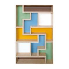 I LOVE these Tetris shelves. Seriously an amazing idea!