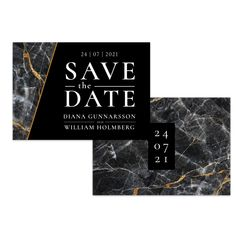 Djup marmor – Save The Date – The Paper Story Save The Date, Paper, Products, Marble