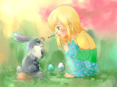 Sophie and Little Bunny by ispan0w0.deviantart.com on @deviantART
