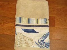 Beach Hand Towel Nautical Decorative Guest by wreathsplusbylyn