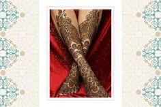 mughal era bridal mehendi design