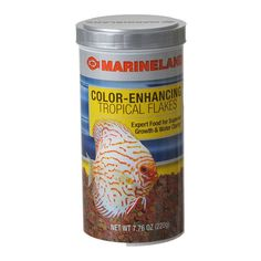7.76oz Marineland Color Enhancing Tropical Flakes are optimized for the varying sized fish in a community aquarium, (4-6mm) firm round flakes differ slightly in diameter and thickness. Unique low-heat process preserves more of the natural nutrients.