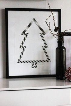 Christmas tree black  white | Xmas decoration . Weihnachtsdekoration . décoration noël | @ inspirations design |