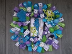 Monsters Inc Wreath by reademandwreath on Etsy, $159.99
