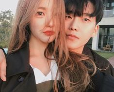 Golden hour at its finest - - - hi lovelys how was your guys day? Best Friend Couples, Boy Best Friend, Couple Ulzzang, Ulzzang Girl, Korean Couple, Best Couple, Cute Korean, Korean Girl, Korean Best Friends