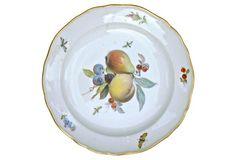 Porcelain Antique Meissen Fruit Plate