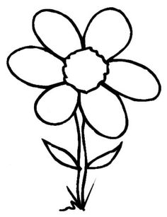 Simple Flower Coloring Page Cute