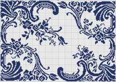 blue / floral / wonder if you could spread the sides and insert a monogram initial? / deborah?
