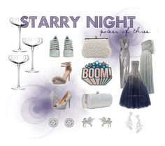 """Starry Night #girlsnight"" by dollycarlsson ❤ liked on Polyvore featuring Halston Heritage, Raishma, LSA International, J. Furmani, Anya Hindmarch, Badgley Mischka, Miu Miu, Kate Spade and Dogeared"