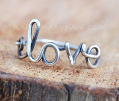 Oxidized Sterling Silver Love Ring by Karismabykarajewelry on Etsy Cute Jewelry, Silver Jewelry, Jewelry Accessories, Diy Jewelry, Jewelry Ideas, Arrow Bracelet, Diy Rings, Love Ring, Oxidized Sterling Silver