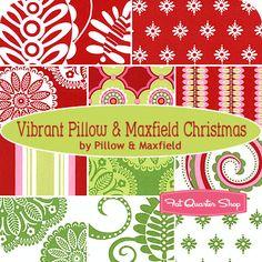 Vibrant Pillow & Maxfield Christmas Fat Quarter Bundle Pillow & Maxfield for Michael Miller Fabrics: swoon?