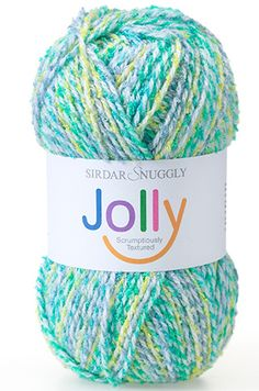 A scrumptiously textured yarn that is great for babies and children alike. It comes in a range of vibrant colour effect shades that kids are sure to love! It is a fantastic all season yarn and has plenty of stylish designs for children aged between 2 to 13 years. Jolly DK is machine washable on a wool cycle. 51% Bamboo sourced viscose, 37% Acrylic, 12% Nylon | English Yarns