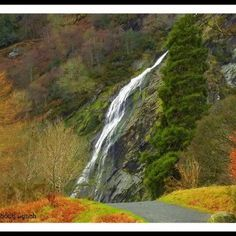 Powerscourt waterfall in County Wicklow from a distance. I would love to visit here again some day soon.