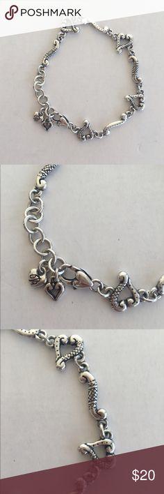 Brighton Tuscan etched heart bracelet Sweet and simple heart bracelet. Very versatile Brighton Jewelry Bracelets