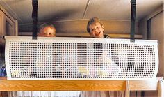 Sturdy Safety Net for Motorhomes and Caravans Suitable for adjustable or bunk beds Also useful for retaining luggage stored in motorhome overhead bed
