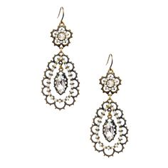 Pearl + Crystal Floral Filigree Earrings  ******The number 2 top selling item in this Pinterest jewelry party*****   #easter #spring #jewelryparty