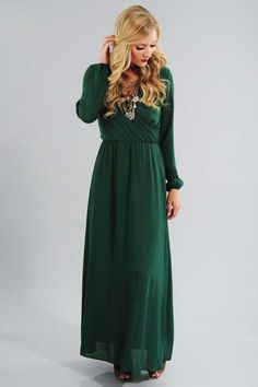 Queen Of Nature Maxi Dress: Emerald #shophopes