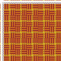 Weaving Draft Karierte Muster Pl. XI Nr. 2, Die färbige Gewebemusterung, Franz Donat, Germany, 1907, #63434