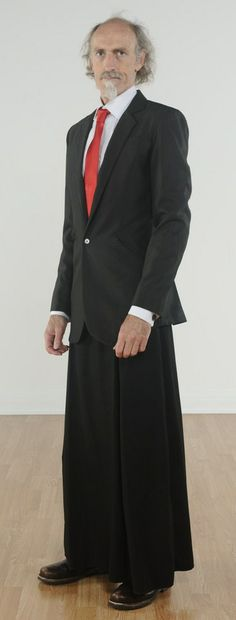 055 The skirtsuit in black - this one with a full-pleated skirt. Male Dress, Men Looks, Pleated Skirt, My Outfit, Nice Dresses, Looks Great, Dressing, Menswear, Feminine