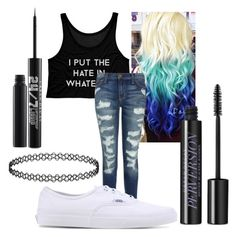 """""""👏🏻"""" by eminemily01 on Polyvore featuring Current/Elliott, Vans and Urban Decay"""