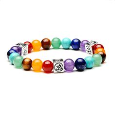 Welcome 2020 with Om: the sound of creation. Om attunes you to your natural wisdom. Om connects you to your creative power. Om opens you to your fullest potential. Bracelets For Men, Handmade Bracelets, Bangle Bracelets, Bangles, Bracelet Men, Spiritual Jewelry, Yoga Jewelry, Spiritual Symbols, Chakra Bracelet