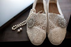Kim + Ben Desert Wedding, wedding TOMS, wedding shoes