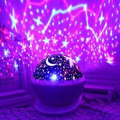 Galaxy Bedroom, Neon Bedroom, Room Ideas Bedroom, Room Decor, Bedroom Bed, Kids Bedroom, Bedrooms, Star Night Light, Baby Night Light