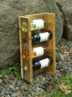 DIY Unique Pallet Wine Rack