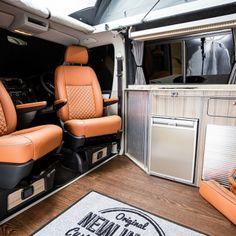 "Traditional ""Lux"" Conversions - New Wave Custom Conversions Vw T5 Interior, Campervan Interior, Vw Camper Conversions, Land Rover Defender, Nooks, Camper Van, Motorhome, Solar Power, Campers"
