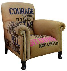 Wie wärs mit einem gemütlichen Buch im Winston Churchill's Courageous Chair - Für abendfüllende Lesestunden http://lelife.de/2017/11/weihnachtsgeschenke-fuer-leseratten-und-buecherwurm/ Bild: Smithers of Stamford #Weihnachten #Geschenke #lesen #Bücher #Geschenkideen