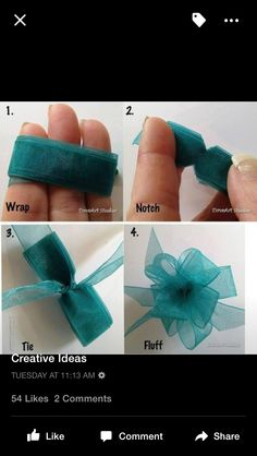 Good for gift bows? quick and easy DIY tutorial on how to tie a ribbon bow. In case you didn't know, here's a quick DIY bow tutorial. Instant Access To Woodworking Designs, DIY Patterns & Crafts super easy and cute bow diy (word to the wise:, I used a cle Craft Gifts, Diy Gifts, Handmade Gifts, Bow Tutorial, Headband Tutorial, Diy Headband, Ribbon Crafts, Diy Ribbon, Mesh Ribbon