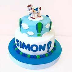 Two Tier Boy Cake / Torta infantil de Dos Pisos Cakes For Boys, Birthday Cake, Desserts, Kids, Food, Sweet Tables, Tailgate Desserts, Young Children, Deserts