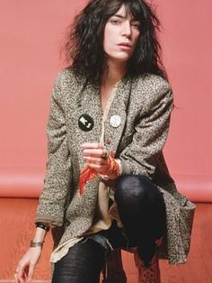 Patti Smith...a rare no compromise individual...a personal work of art, a poet. Seeing her perform live is exhilarating, you feel the passion and emotion.