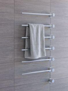 Towel warmer – electric built-in modular heated towel rail for individual design soluti. Towel Rack Bathroom, Bathroom Taps, Modern Bathroom, Small Bathroom, Shower Towel, Marble Bathrooms, Modern Shower, Bathroom Curtains, Bathroom Cabinets
