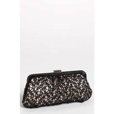 335174dbc4 Women's Menbur 'Crochet Floral' Clutch (6,205 INR) ❤ liked on Polyvore  featuring bags, handbags, clutches, black, floral clutches, macrame purse,  ...